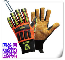 washable cow split leather waterproof Kelvar Mechanical Safety Gloves