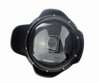 SHOOT New GoPro Waterproof Dome Port with Lens Hood for GoPro Hero 3+/4