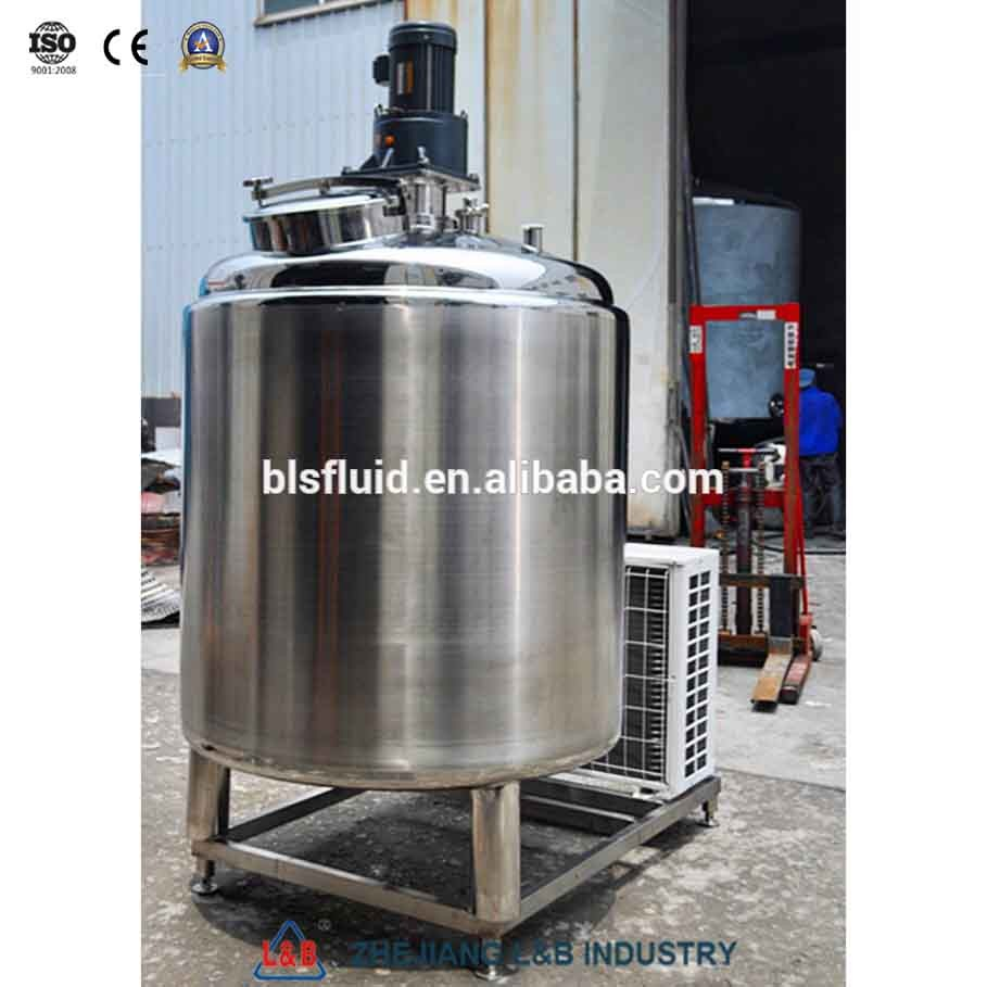 Stainless Steel Vertical Milk Cooling Tank
