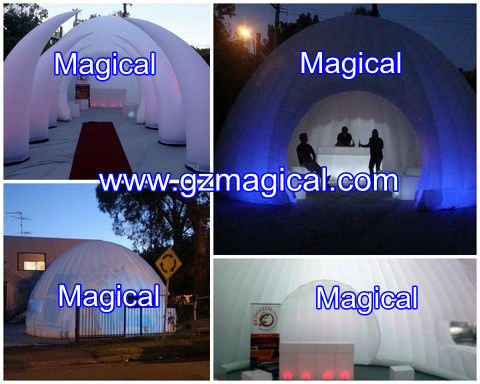 new LED lighting big inflatable party dome tent