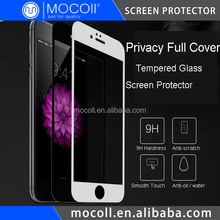 Mobile Phone Use Japan Asahi Glass Electroplated Coating Privacy Full Cover Tempered Glass Screen Protector For iPhone 6S