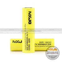 MXJO IMR 20A 18650 batteries for e-cigarette flat top with 3000mah high capacity battery cell