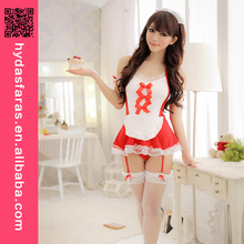 Sexy Maid Costumes Outfits red hot sexy girls babydoll nighty