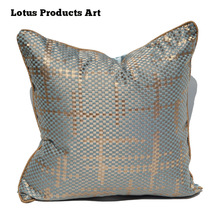 Gold Silk Thread Knit Teal Sofa Taupe Euro Tv Pillows For Bed Back Support