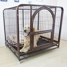 china cheap welded mesh dog kennel double doors dog cage