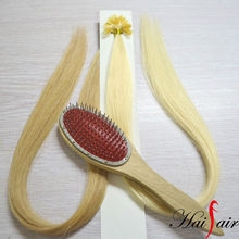 Single drawn hair extension glue tip pre-bonding hair extension