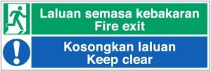 Safety Signage, Emergency Escape Signs, Safety Sign