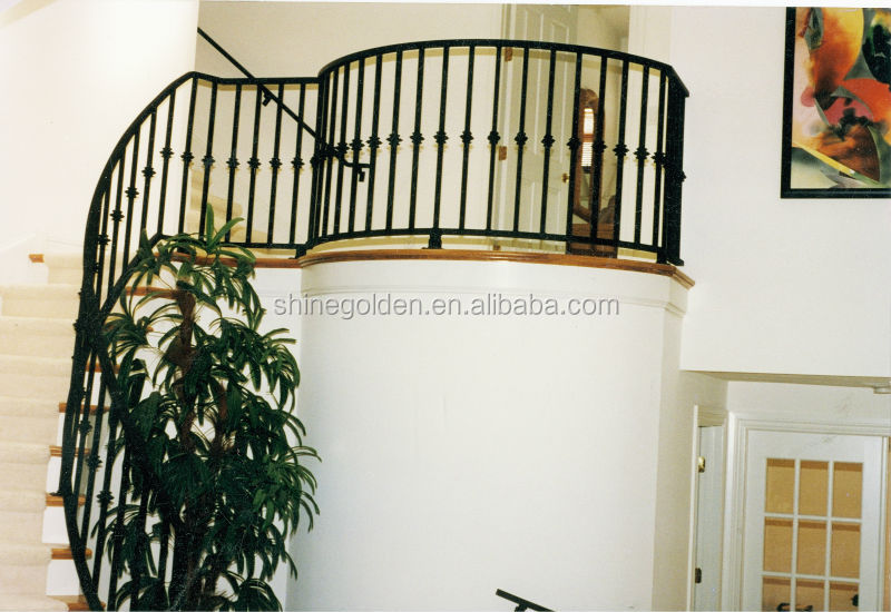 various design curved wrought iron stair railings