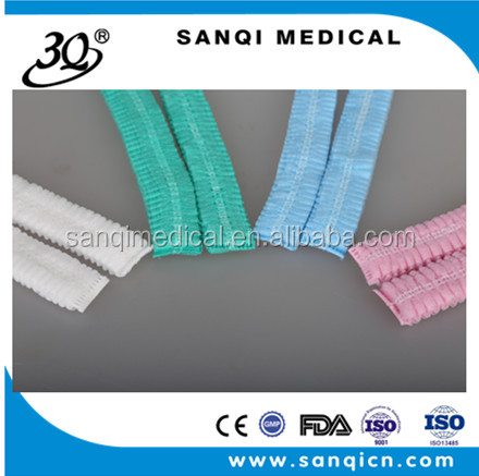 Disposable non woven medical double elastic cap