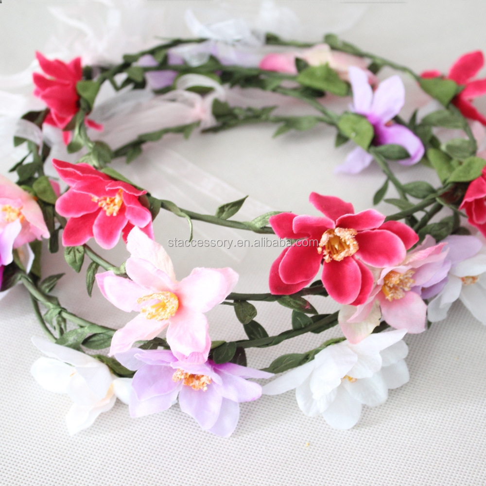 Bridal wreath flower <strong>hair</strong> band <strong>hair</strong> <strong>accessories</strong> seaside resort photography props
