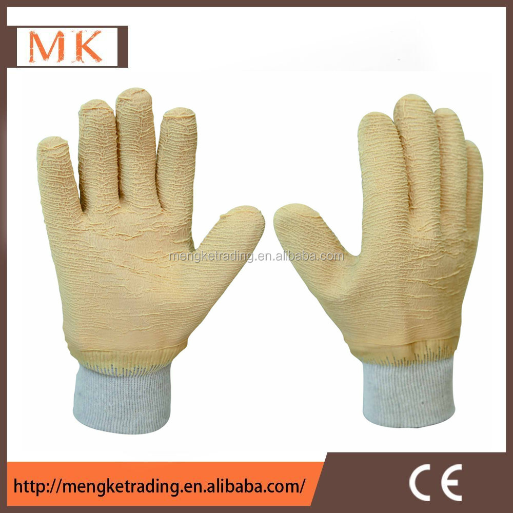 Heavy duty work gloves latex fully coated wholesale