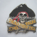 Fashion new customized cowboy western 44mm back w/teeth R-0446-34 skull belt buckles with hat
