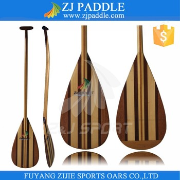 Full Wooden Outrigger Paddles
