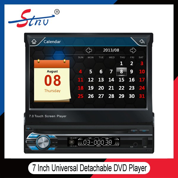 Universal 7 Inch One Din DVD Player With Radio/Bluetooth/USB/AUX Port
