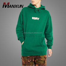 Wholesale Cheap Custom Logo Dark Green Pullover blank hoodie Fleece Sweatshirt Hoodie For Men