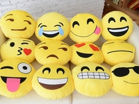 Smiley Face 32/35cm/Custom Make Direct Factory Pp Cotton plush Emotion Emoji Pillow/custom whatsapp emoji pillow For Wholesale