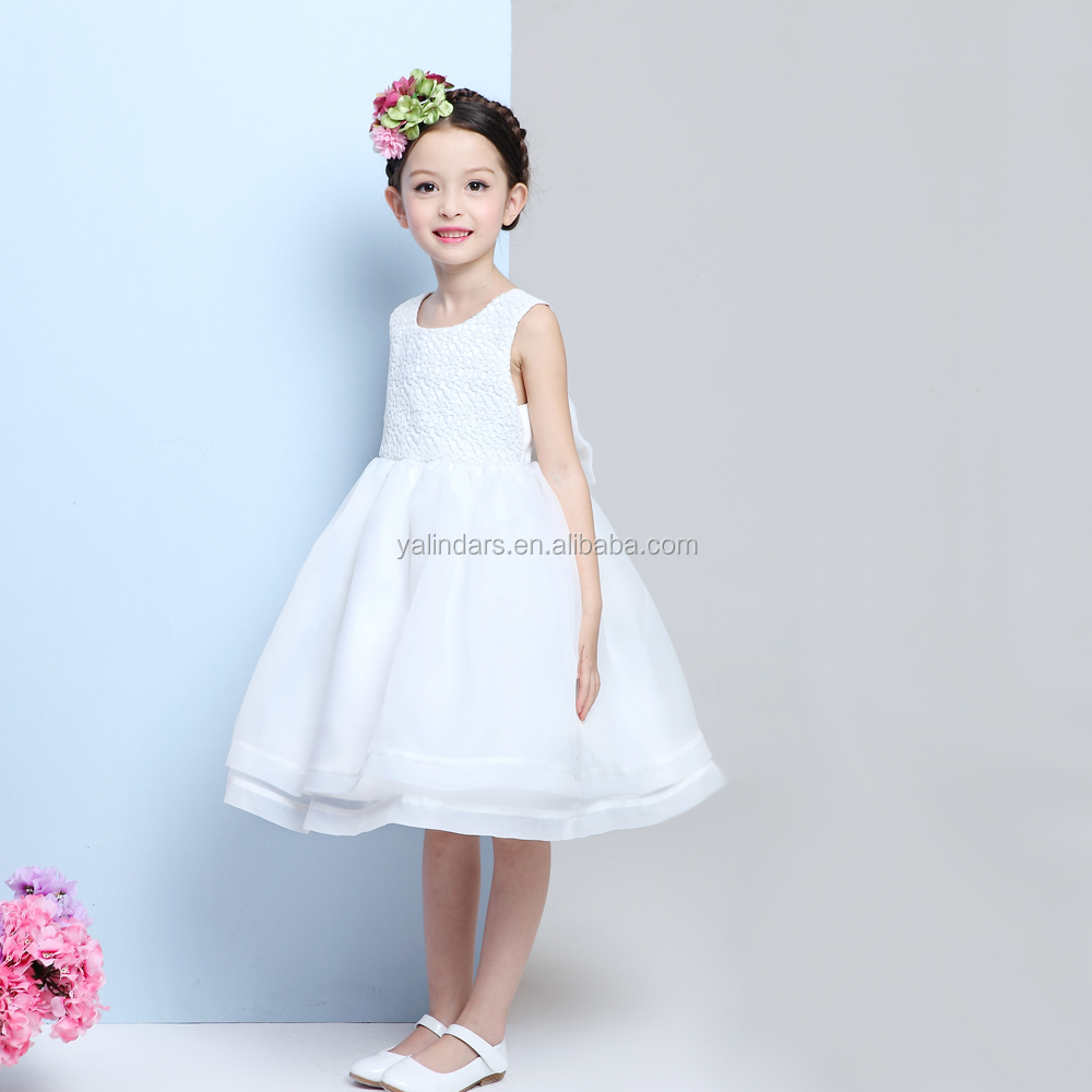 2016-2017 New Model Knee Length Girls Party Dresses for Wedding Dress