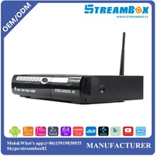 Original StreamboxA8 Full HD DVB-S2+S2 FTA Satellite Receiver Recorder With Twin Tuner,remote control