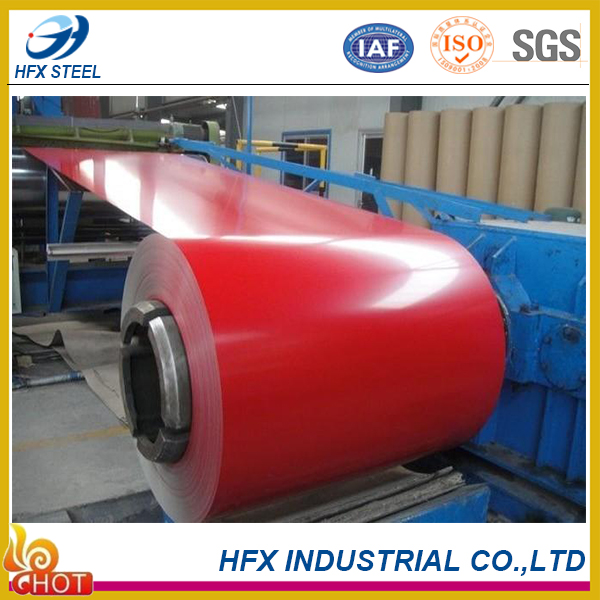 prepainted GI steel coil PPGI/PPGL color coated galvanized corrugated metal roofing sheet in coil