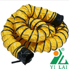 pvc vinyl polyester fabric duct air ventilator yellow, offer OEM service manufacturer flexible duct