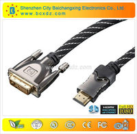 10.2Gbps gold plated 1.4V hdmi dvi cable