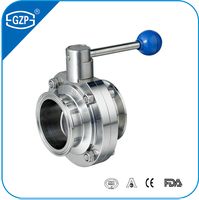 ISO GB DIN 3A IDF Standard Stainless Steel 304 316 316L Welding Threaded Screwed Flanged Clamp End Sanitary Butterfly Valve