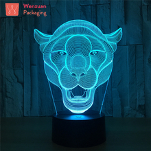 The Lioness Roaring USB Decorative Plug In LED Color Changing Night Light