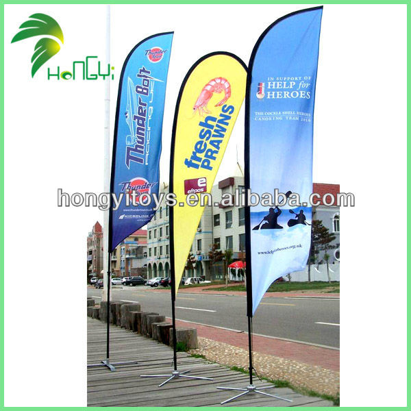 Outdoor Beach Flag With Logo Printing
