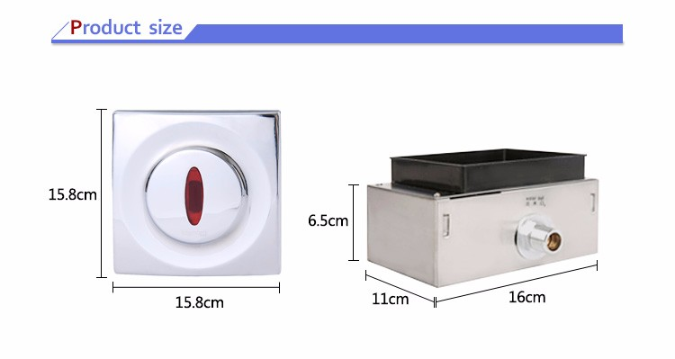 wall mounted automatic infrared sensor urinal flusher