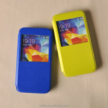 view flip cover case for Samsung S5 flip cover with stand