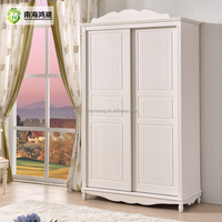Knock Down Flatpack Home Country Simple Design Bedroom Bellona Sliding Door Wardrobe Models and Price