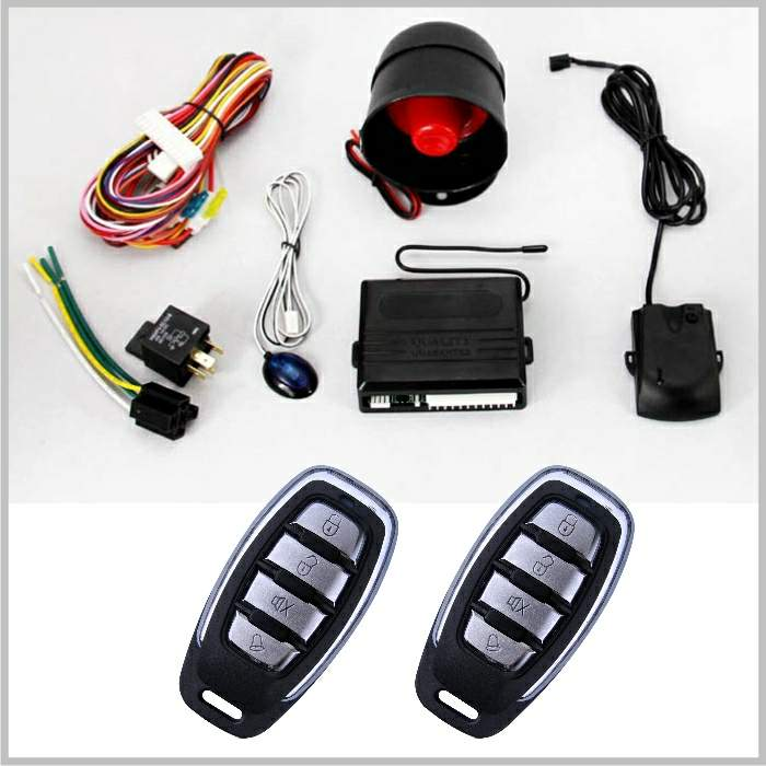 Lixing Quality car alarm system remote engine start keyless entry & Super Long Distance Control& Door Trigger(Negative trigger)