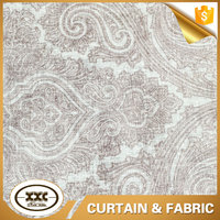 classic design printed lace linen curtains