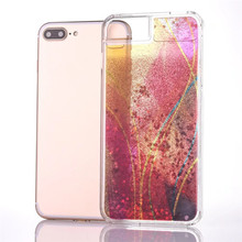 Colorful dazzling rainbow liquid tpu phone case for iphone 6 glitter paillette water case for iphone 6 plus