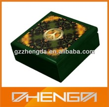 High quality custom made-in-china green small wooden gift boxes wholesale (ZDS-SE127)