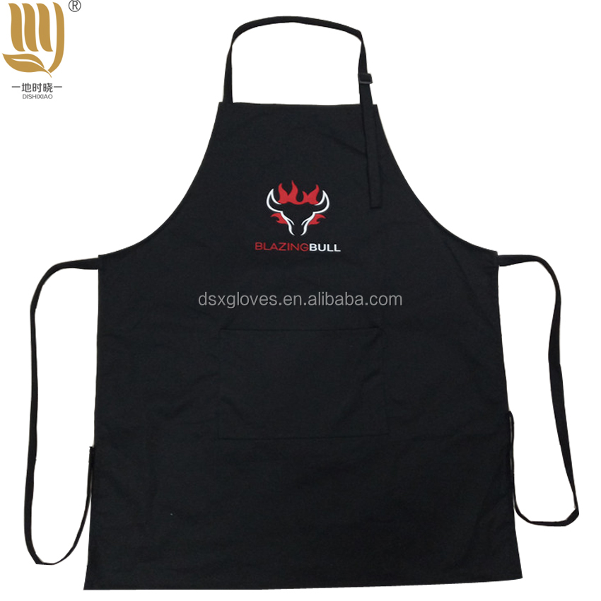 Polyester Cotton Blend Full Length Aprons Adult Family Cooking Aprons cheap bib aprons