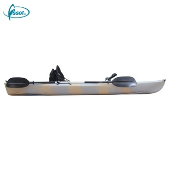 Wholesaler oem factory one person foot pedal fishing kayaks cheap canoe sit top kayak