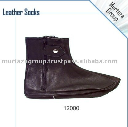 100% Leather Socks