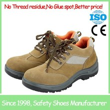 SF6922 light brown low cut steel toe pu sole work boots