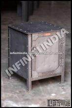 INDUSTRIAL VINTAGE ANTIQUE BEDSIDE FURNITURE, VINTAGE FURNITURE