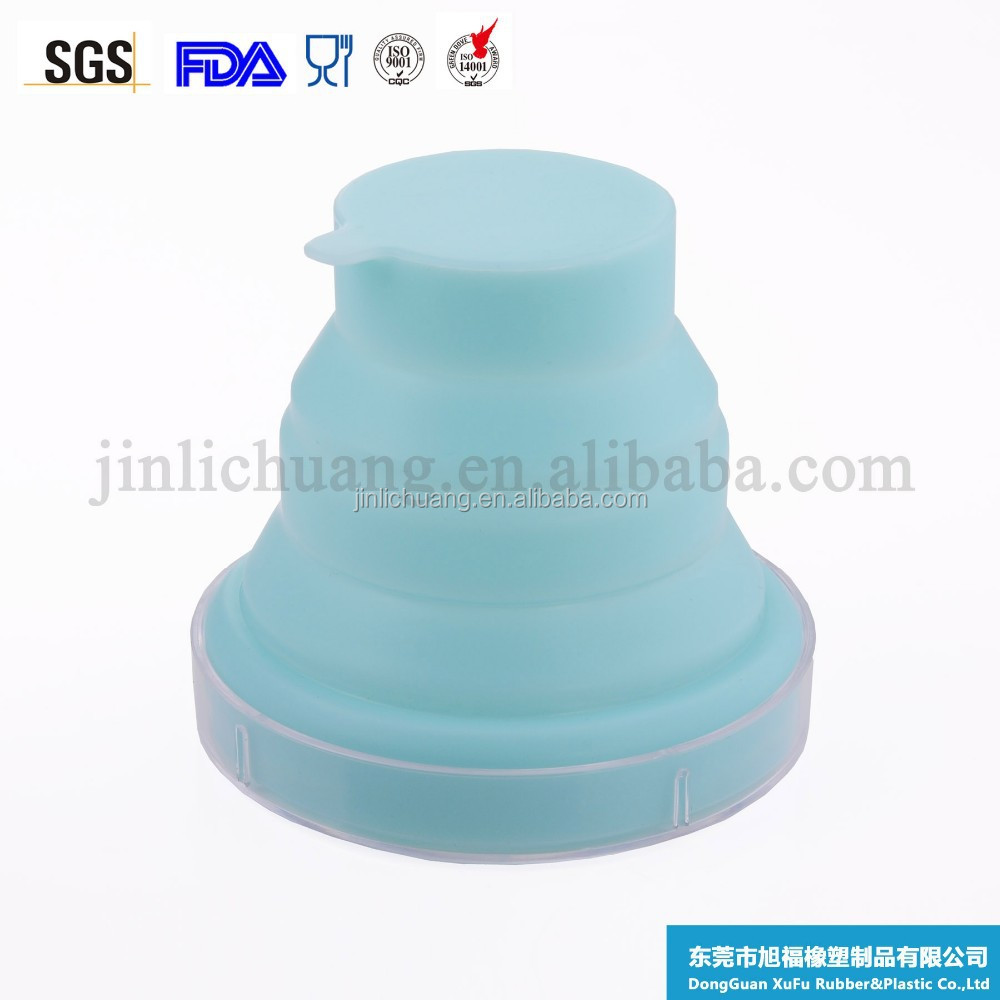 Food grade portable universal high quality collapsible silicone cup for drinking