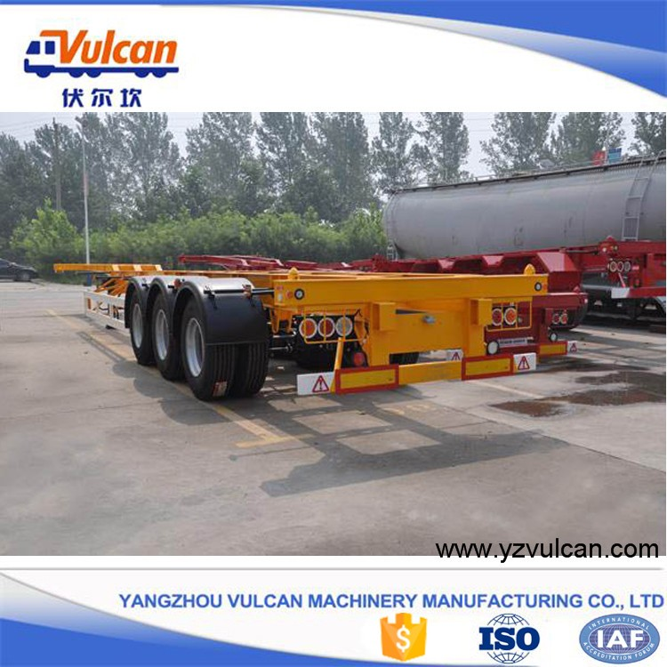 Factory price 20ft 40ft container skeleton trailer chassis