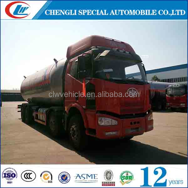 FAW 8*4 30,000L lpg delivery truck 30cbm lpg filling machine