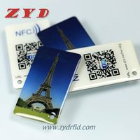 Custom designed rfid nfc Ntag216 key tags for loyalty
