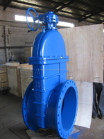 over size DIN F4 cast iron gate valve/ gate valve manufacturer from china