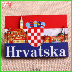 YCW16547 croatia building new design for 2016 supplier wooden fridge magnet
