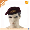 Eyelet Combat Character Beret Organic Wool Unisex Beret French Military Style