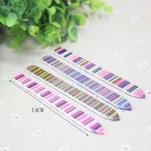 1PC 14cm Long Colorful Durable Crystal Glass Nail Files Fashion Salon Buffer Manicure Beauty Device Art Decorations Tools