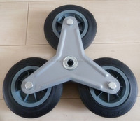 "3 wheel for stair climber pcs 6"" solid rubber wheel for export"