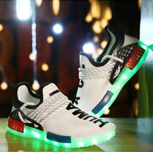 Spring hot-sale LED shoes with 7 led lights USB rechargeable sneakers